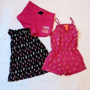 Summer 2-3 T Toddler girl Bundle 3 Pcs